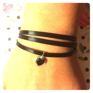 Jewelry - 3 ribbon bracelet with heart - adjustable❌firm❌
